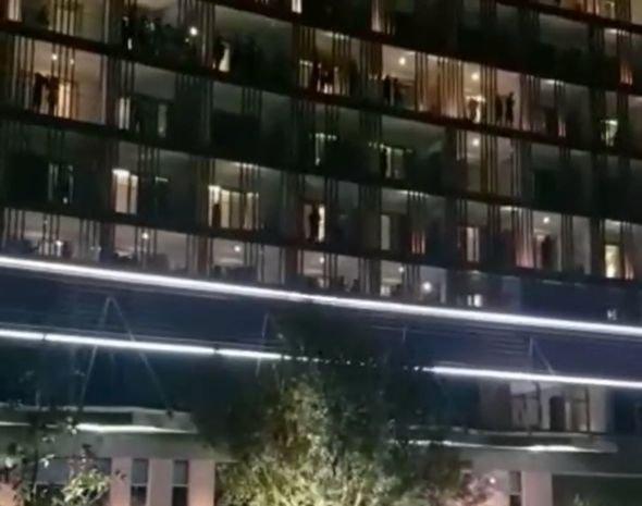 Karantində qalanlar Azərbaycan polisini belə alqışladı - VİDEO