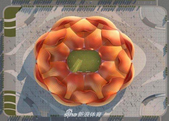 Koronavirus əngəl deyil: Çin dünyanın ən nəhəng futbol arenasını tikir - VİDEO
