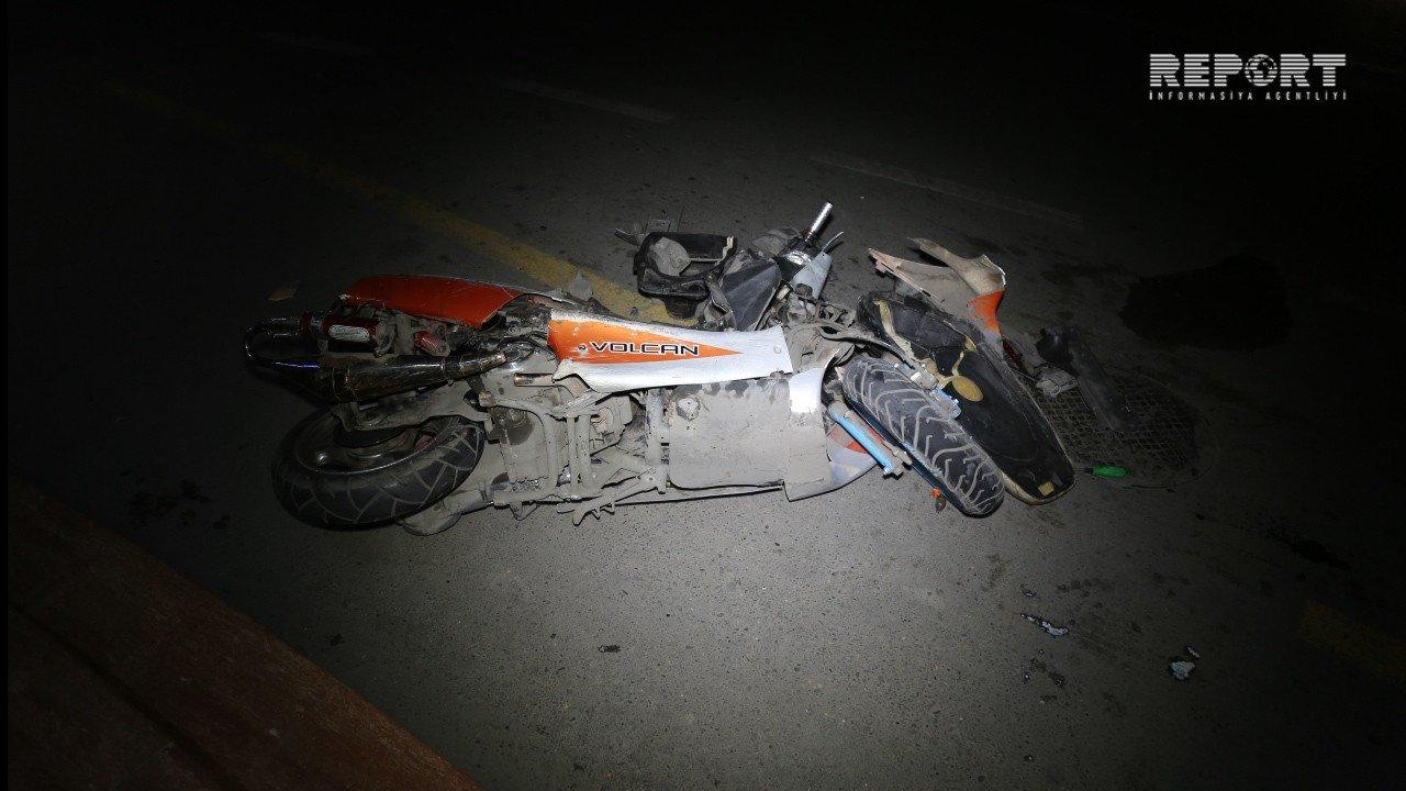 Bakıda motosiklet sürücüsü törətdiyi qəzada yaralandı