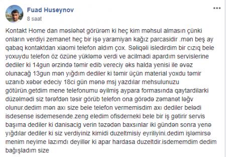 """""""Kontakt Home""""un zəmanəti heç bir işə yaramır"""" - REBRENDİNQ BELƏ KÖMƏK ETMƏDİ"""