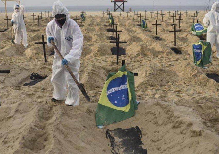 Braziliyada bir gündə virusa 52 mindən çox yoluxma olub