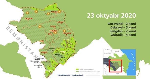 Azərbaycan ordusunun işğaldan azad etdiyi 154 məntəqə interaktiv xəritədə - VİDEO