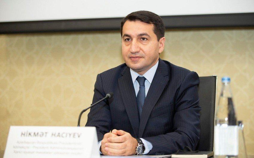 Hikmət Hacıyev: Terror çağırışları edən erməni deputat AŞ PA mandatından məhrum olunmalıdır